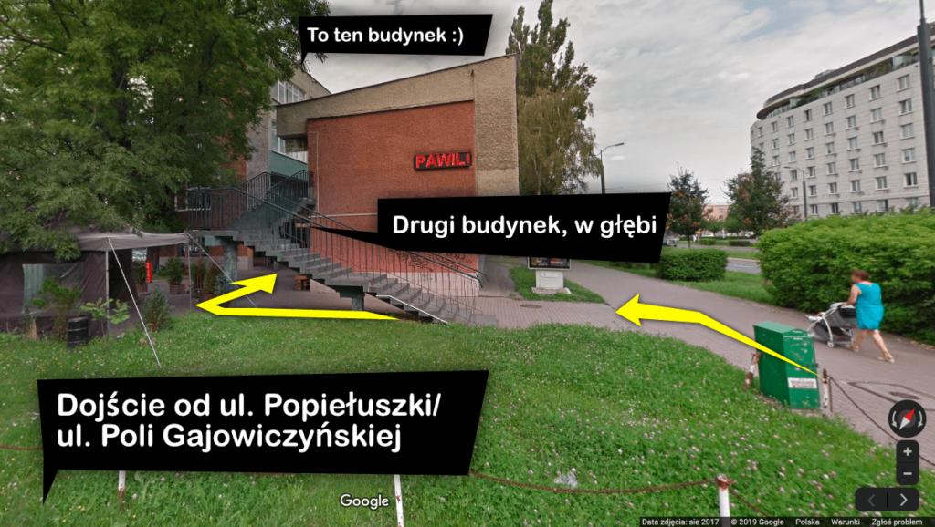 Logopeda Lewsza Warszawa Żoliborz - dojście od ul. Popiełuszki